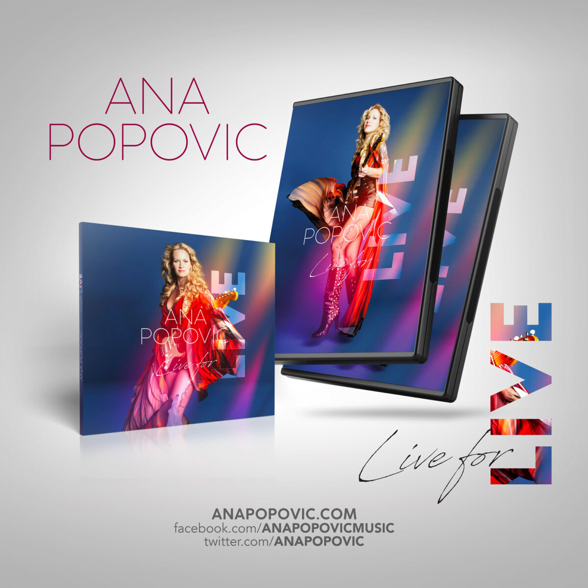 ANA POPOVIC - Live for live CD DVD